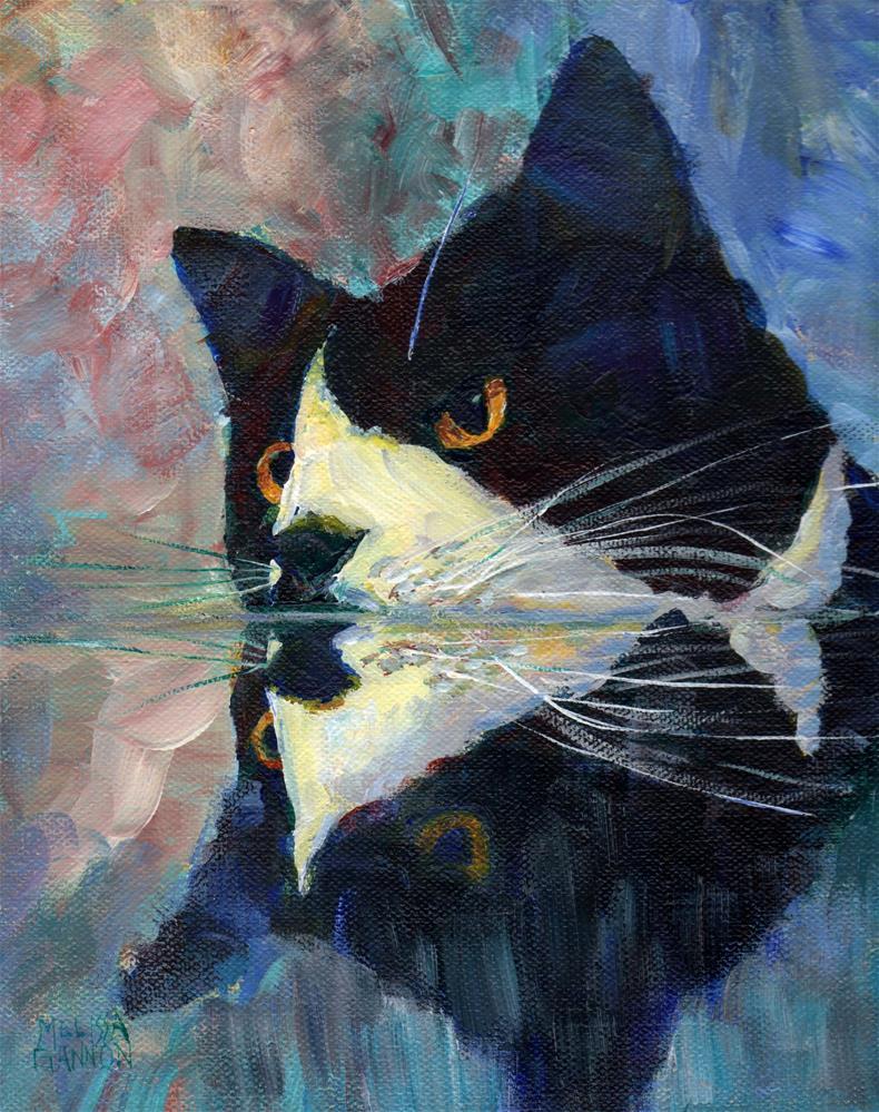 """Kitty Reflections"" original fine art by Melissa Gannon"
