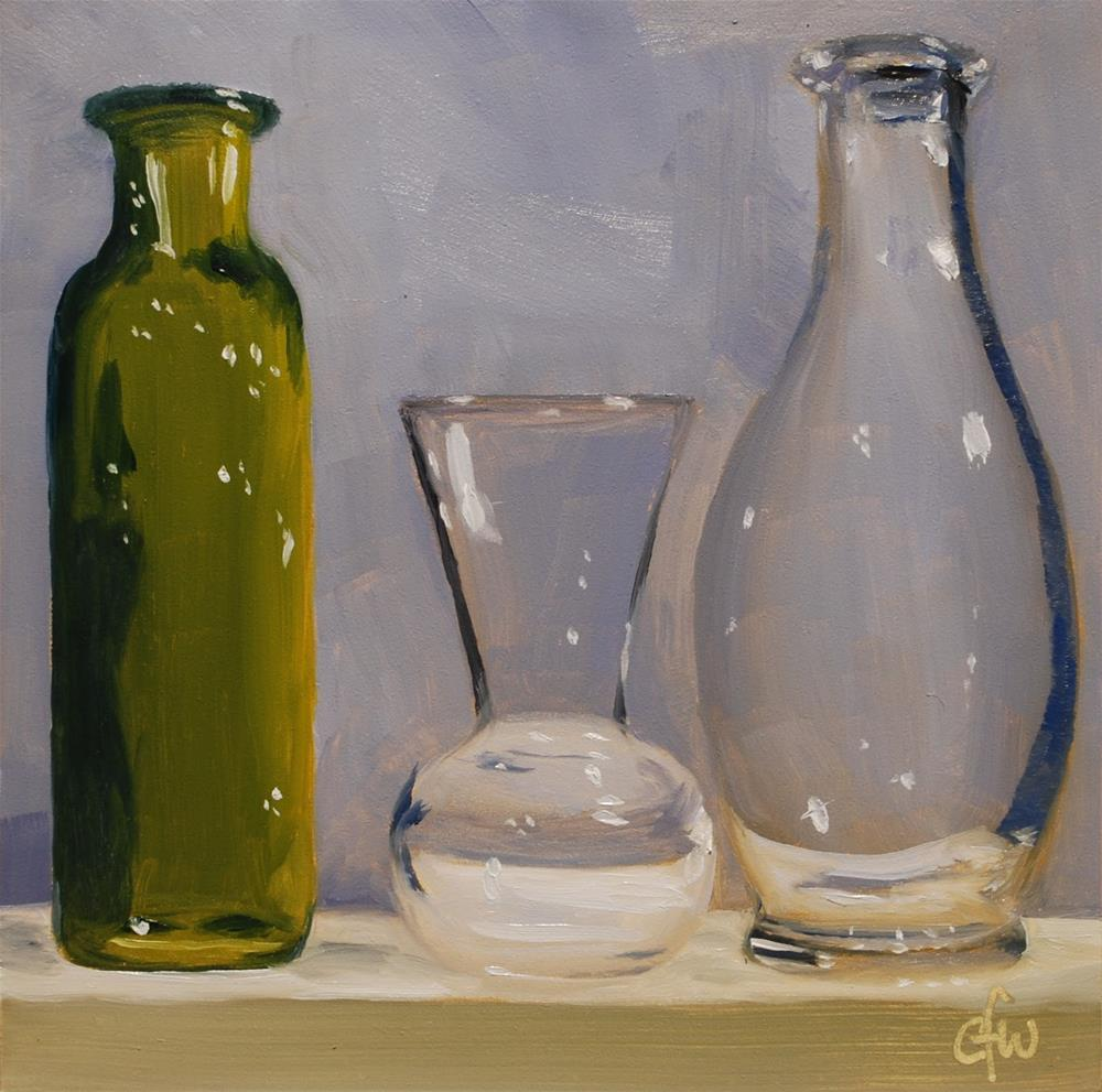 """Vase and Two Bottles"" original fine art by Gary Westlake"