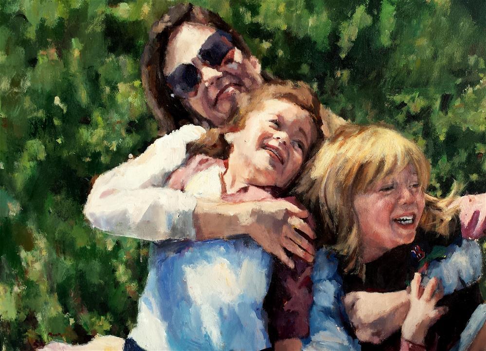 """Mama Bear"" original fine art by Nava Judith"