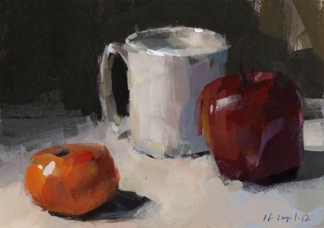 """Fruit and Mug - Quick Study"" original fine art by David Lloyd"