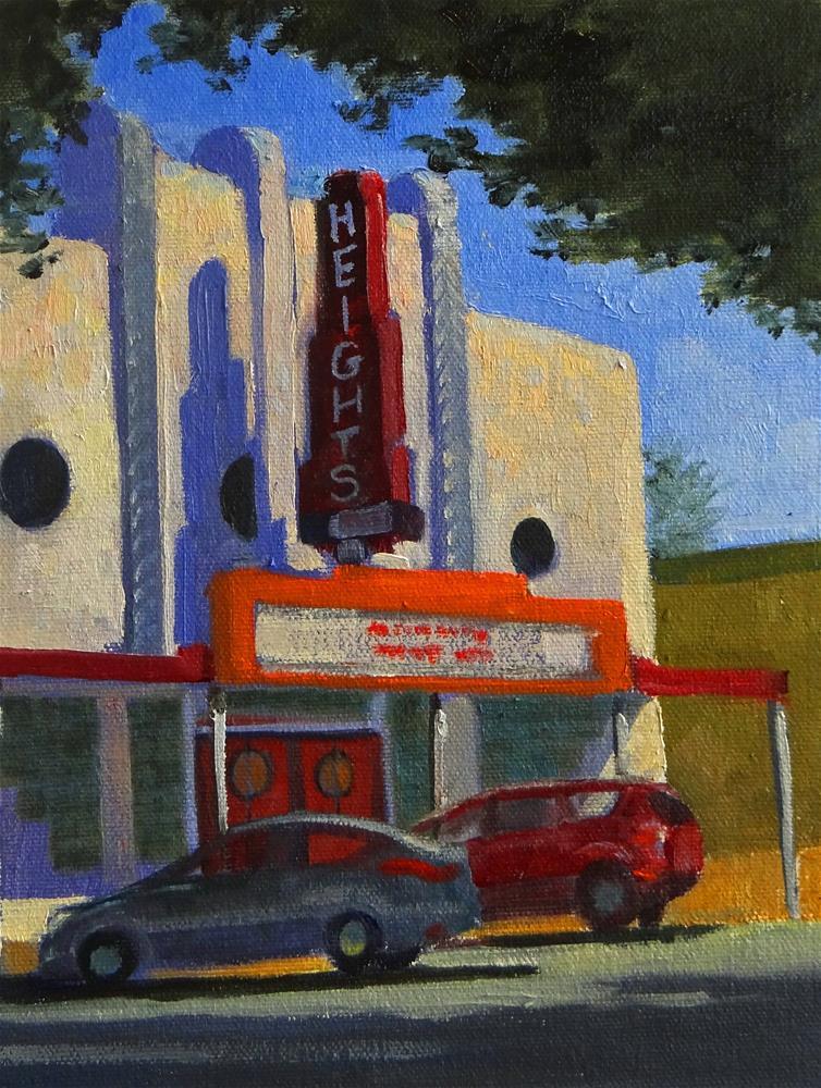 """""""Heights Movie Theatre"""" original fine art by Nancy Paris Pruden"""