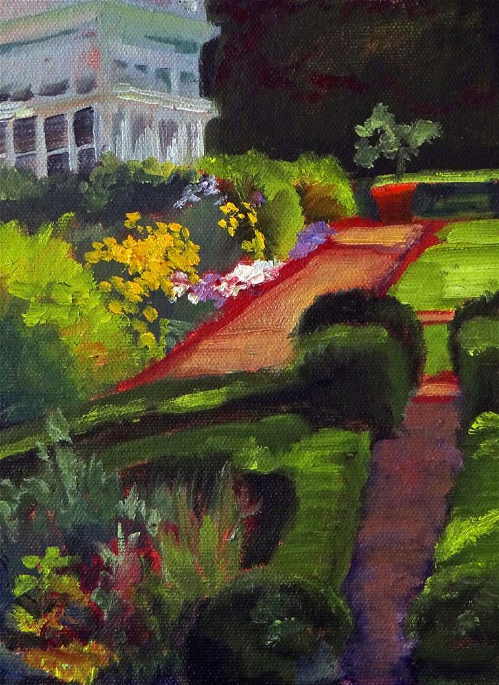 """Ellen's Herb Garden"" original fine art by Nancy Paris Pruden"