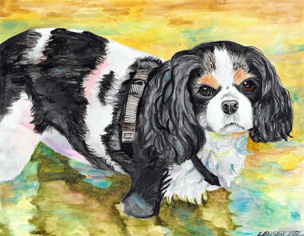 """Tess on the Water"" original fine art by Lisa Wiertel"