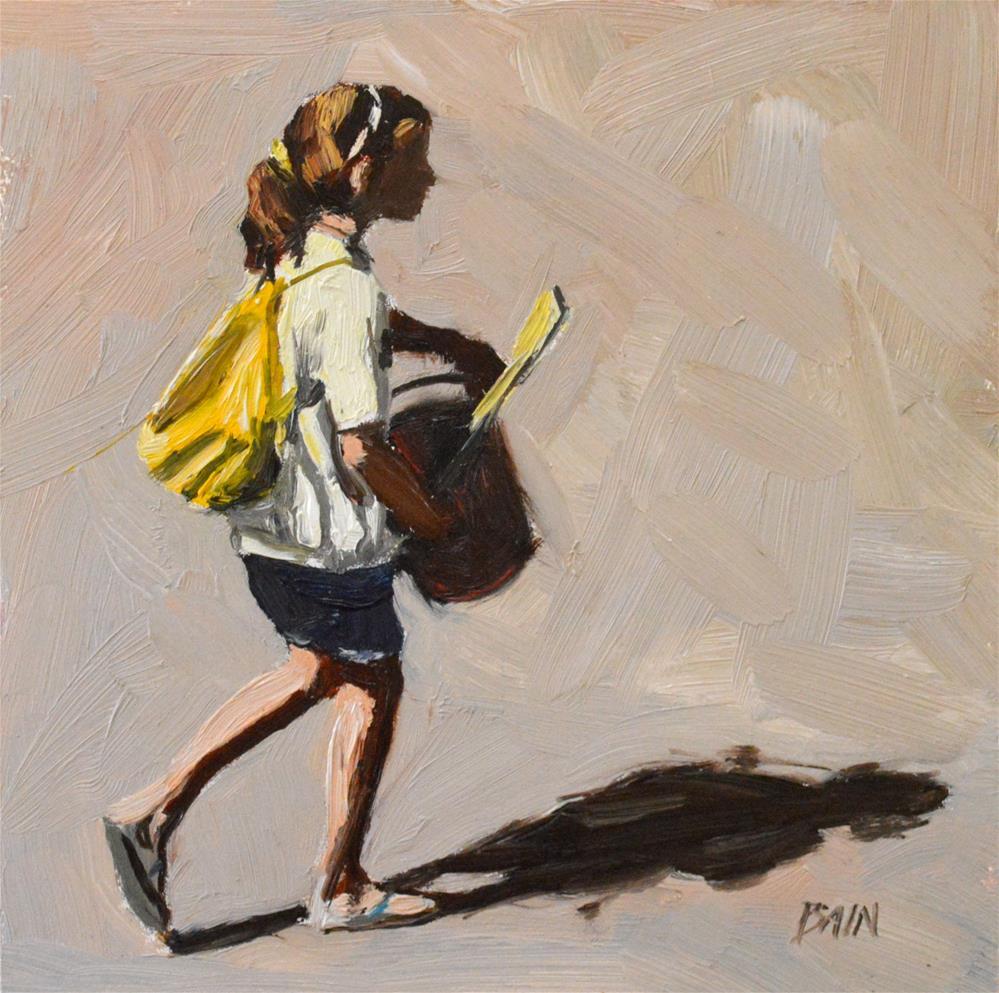 """Bucket Brigade"" original fine art by Peter Bain"