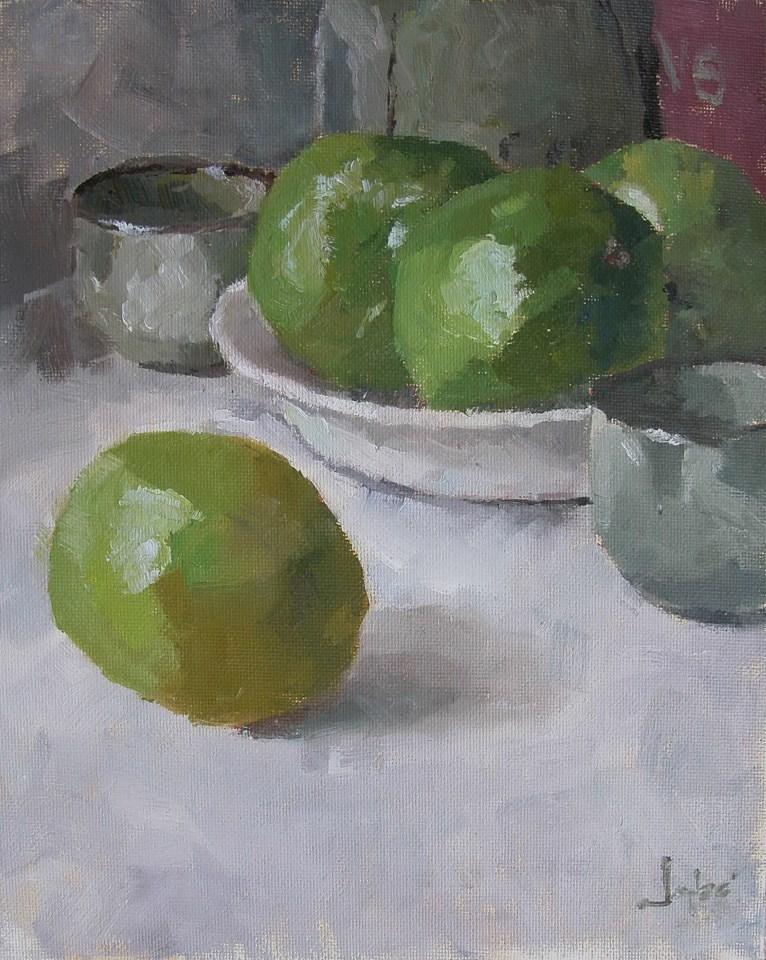 """""""Still Life in Green"""" original fine art by Richard Jones"""