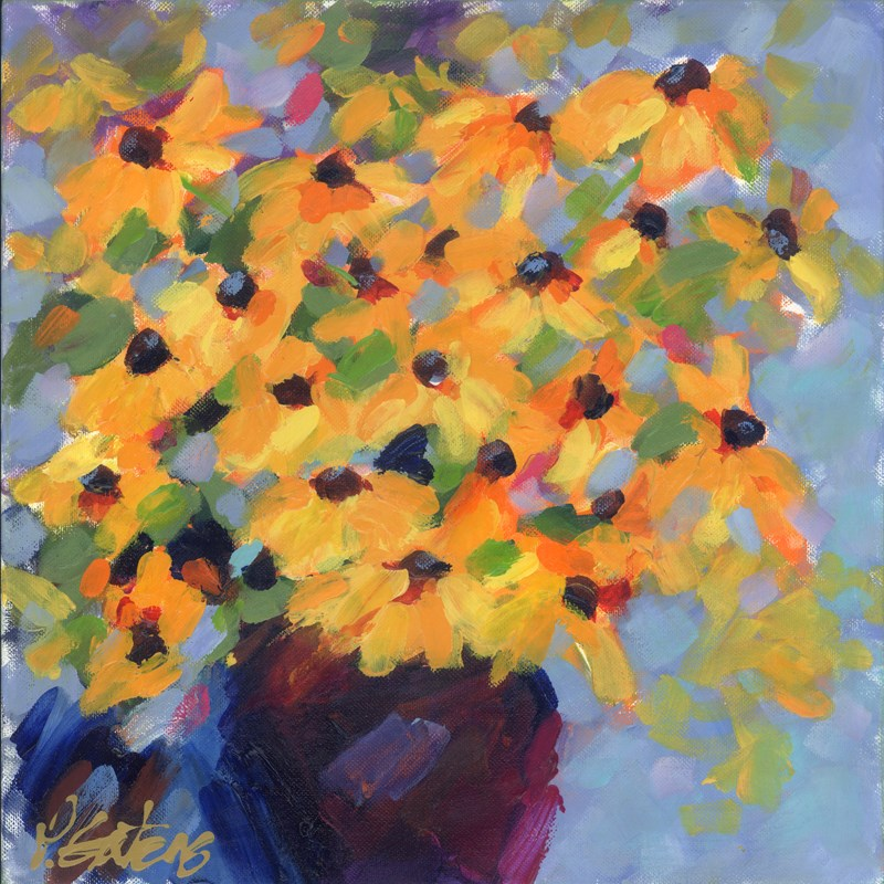 """Black Eyed Susans"" original fine art by Pamela Gatens"
