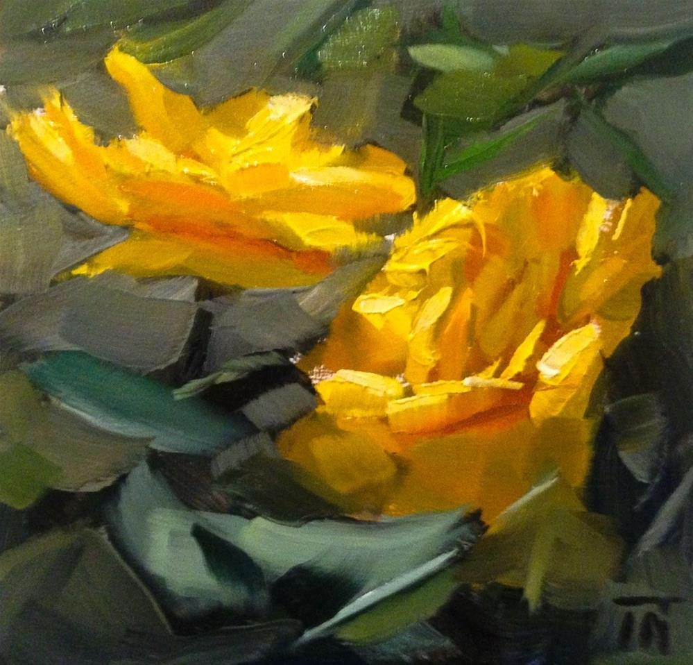 """Yellow Roses"" original fine art by Thomas Ruckstuhl"