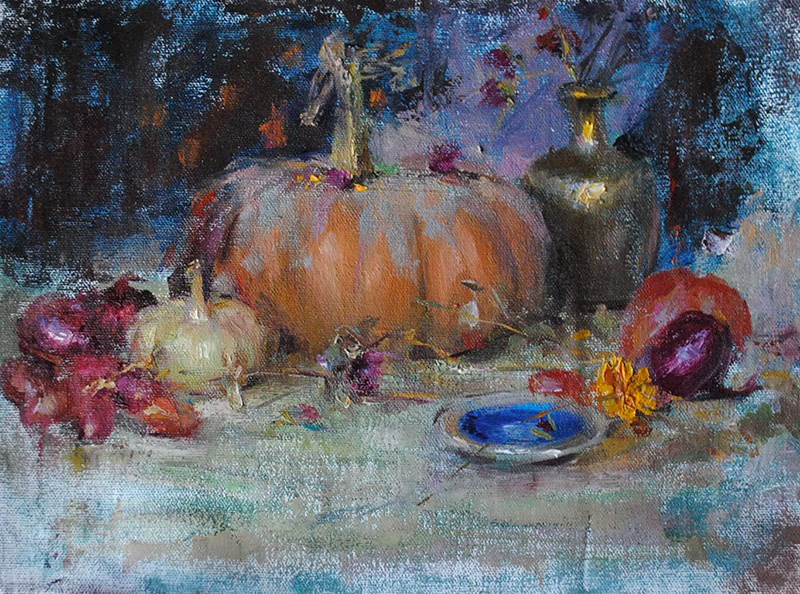 """pumpkin"" original fine art by Taisia Kuklina"
