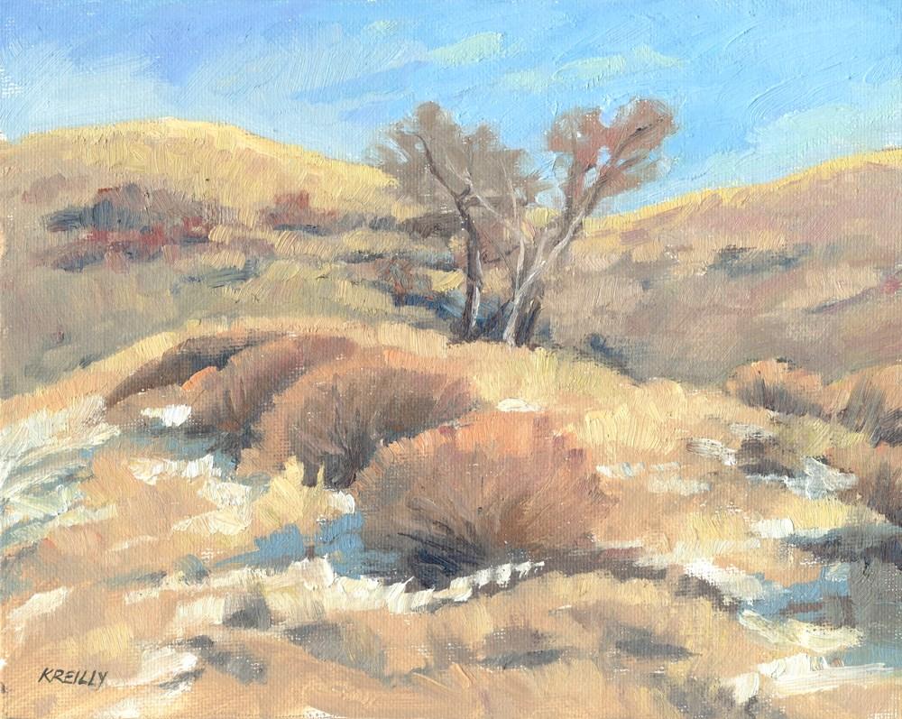 """January Hills"" original fine art by Kath Reilly"