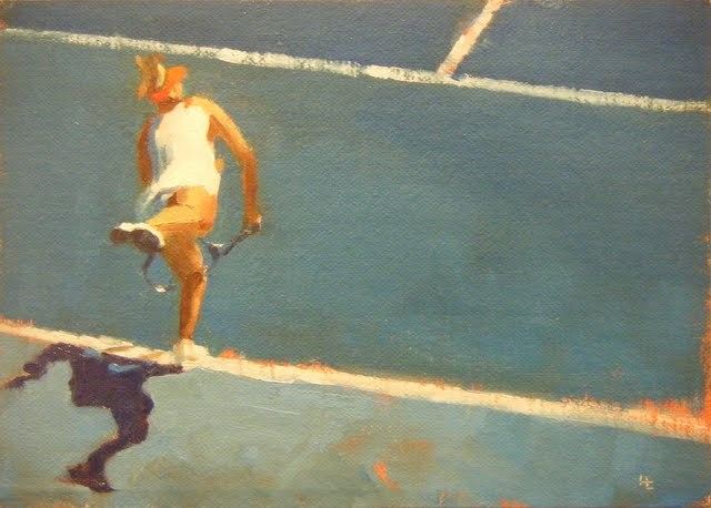 """AUSTRALIAN TENNIS OPEN - 2"" original fine art by Helen Cooper"