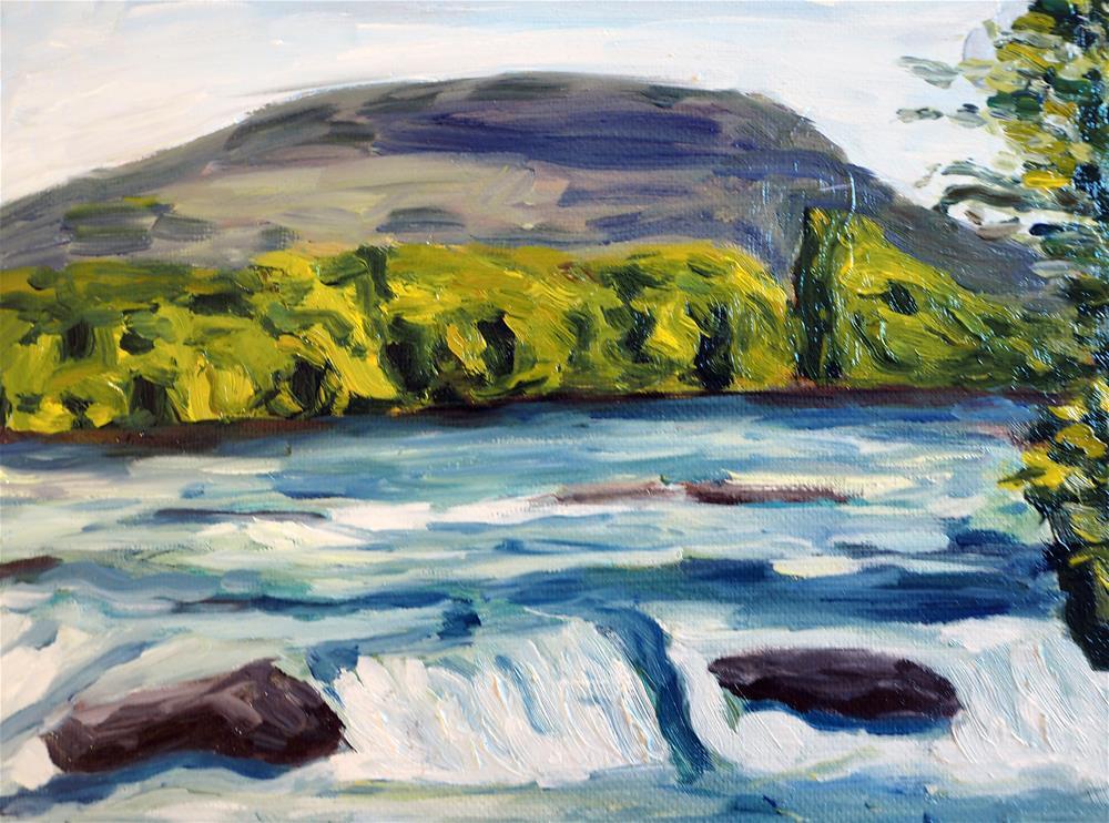 """""""Am Rhein"""" original fine art by Eva Grünwald"""
