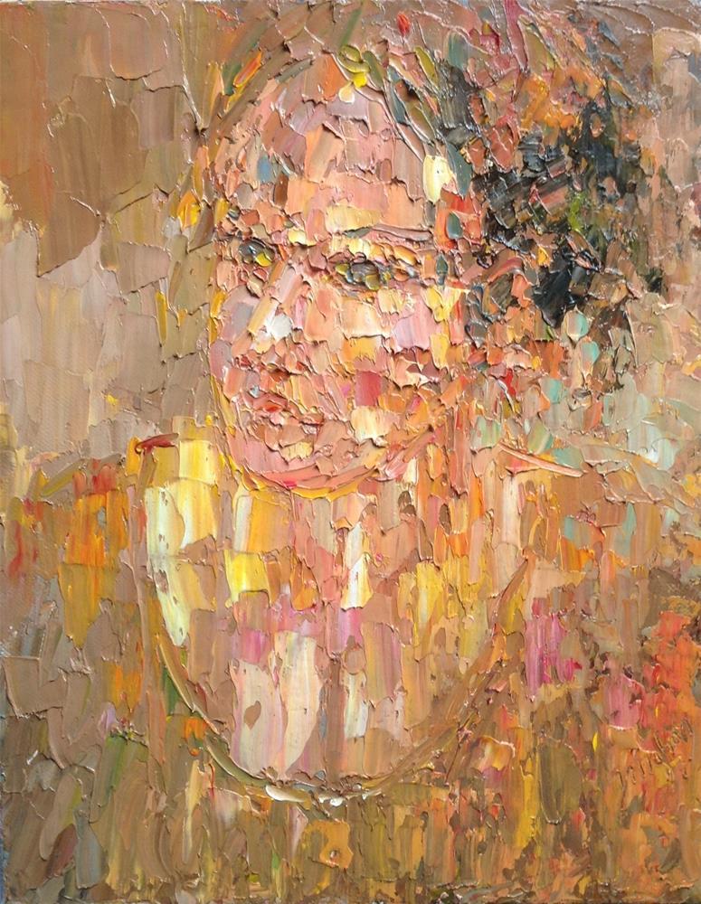 """An Irish girl"" original fine art by Joseph Mahon"