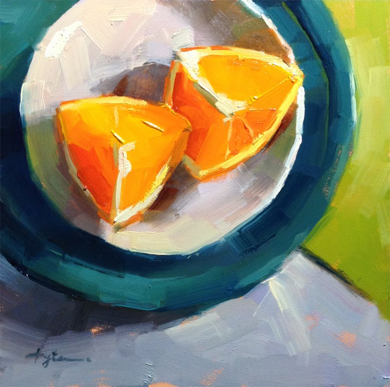 """Orange Slices"" original fine art by Katia Kyte"