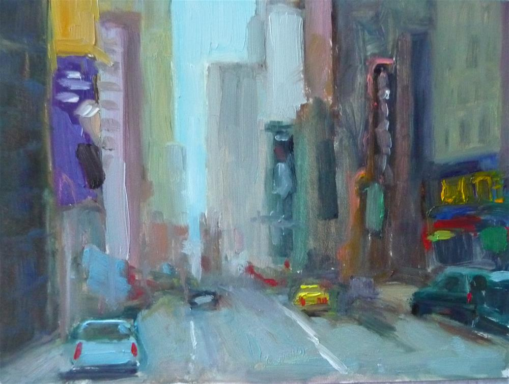 """Big City"" original fine art by Carol Josefiak"