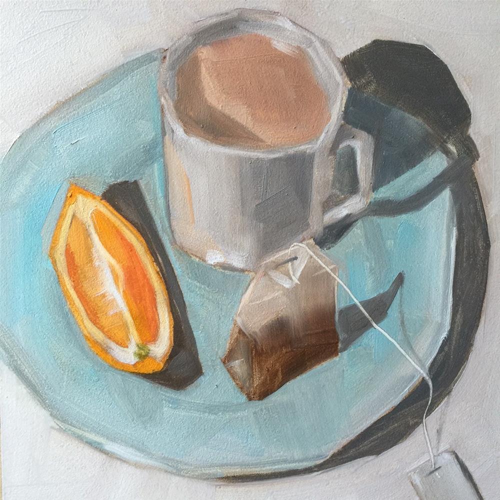 """""""213 English Breakfast"""" original fine art by Jenny Doh"""