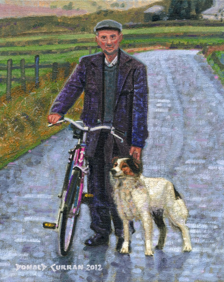 """An Irish Road"" original fine art by Donald Curran"
