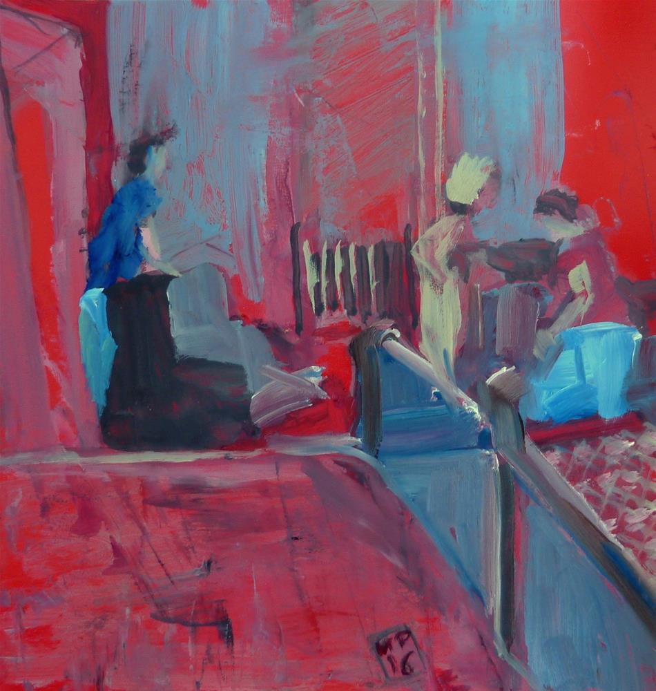 """""""Menschen im Raum / human in space"""" original fine art by Mila Plaickner"""