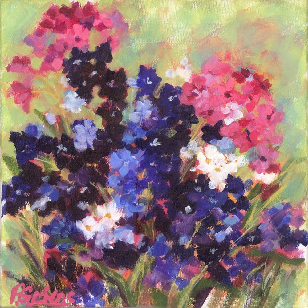"""Purple Loves Pink"" original fine art by Pamela Gatens"