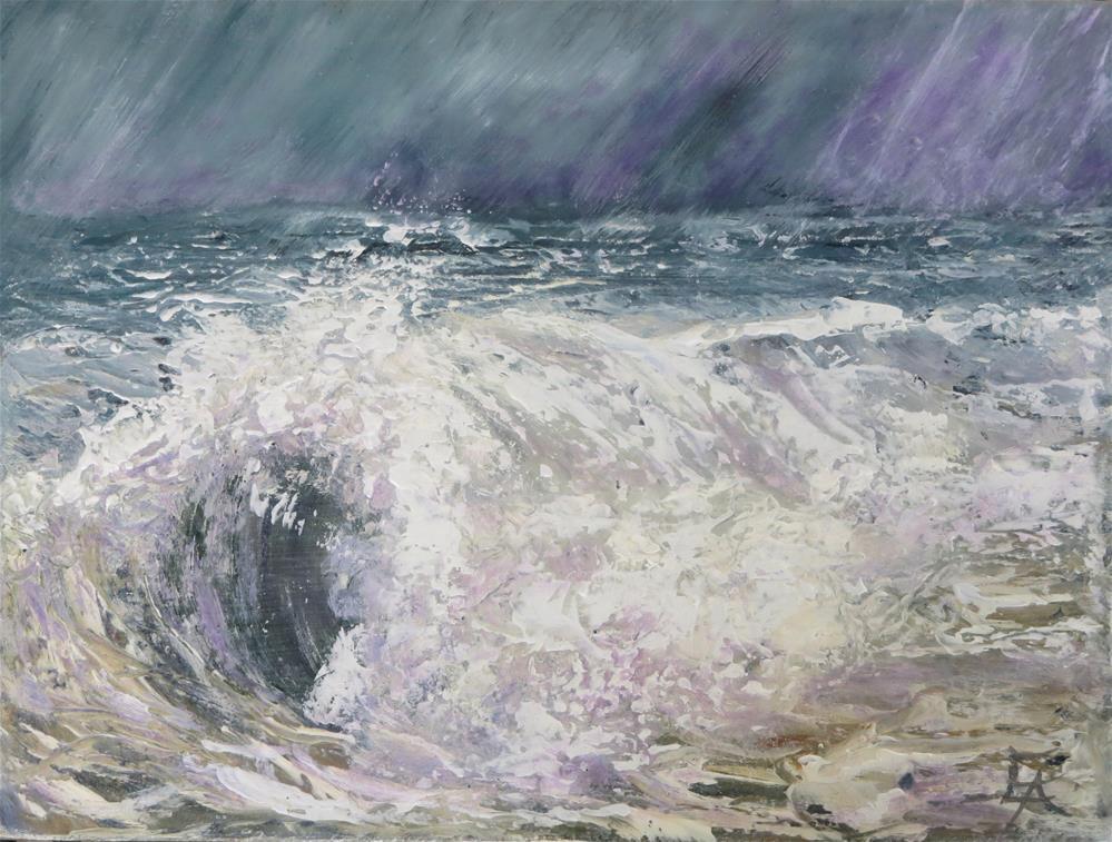 """Palette Knife -Wave in Storm"" original fine art by Elizabeth Elgin"