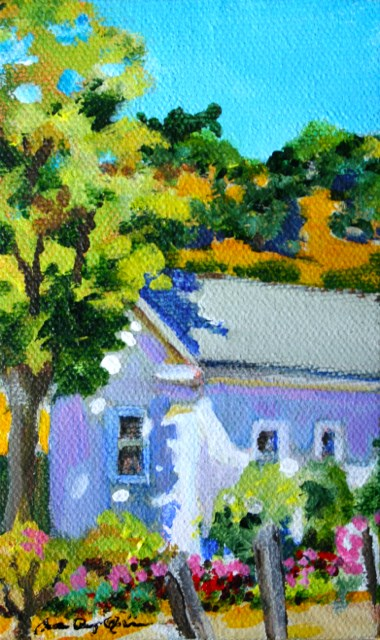 """Little White House"" original fine art by JoAnne Perez Robinson"