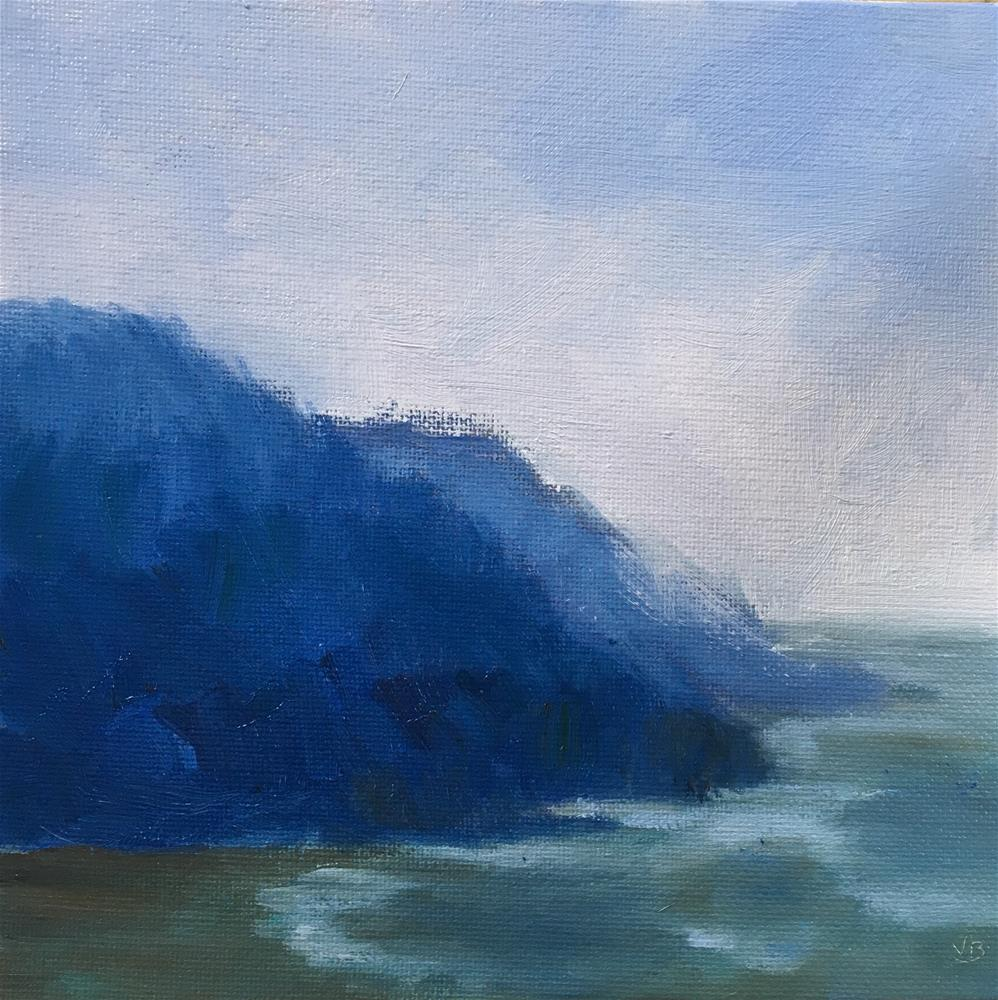 """The Mood of Blue"" original fine art by Victoria  Biedron"