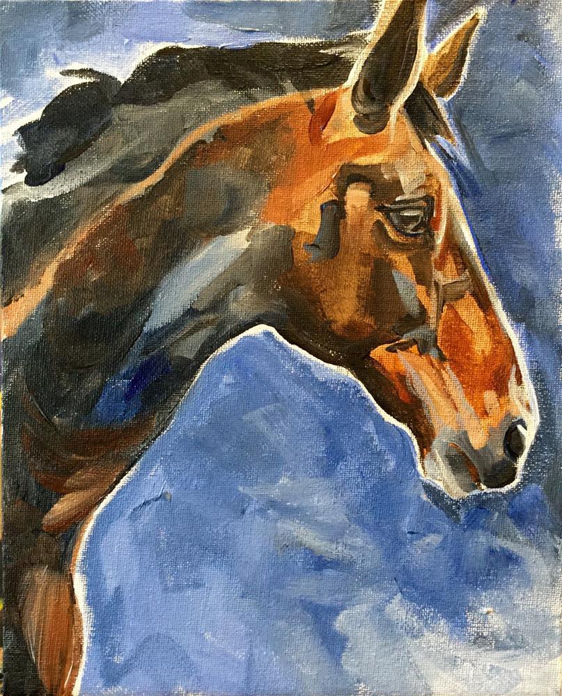 """Profile Pony"" original fine art by Lauren Kuhn"