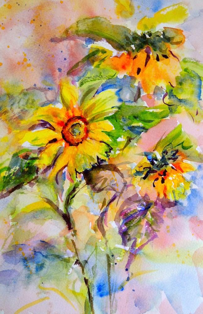 """""""Sun Dance"""" original fine art by Mary Schiros"""