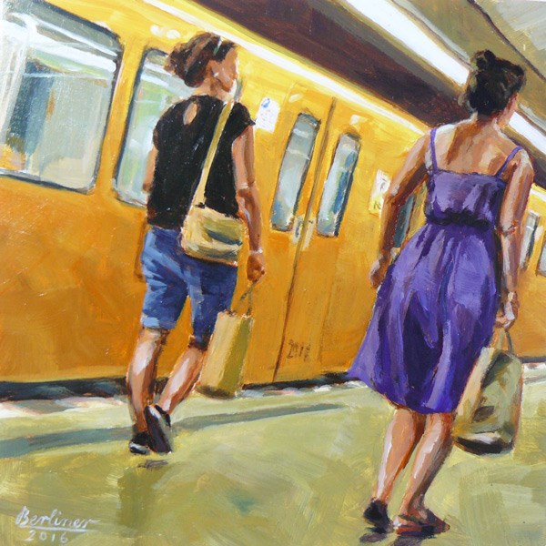 """057 Sommerhitze immer noch"" original fine art by Anja Berliner"
