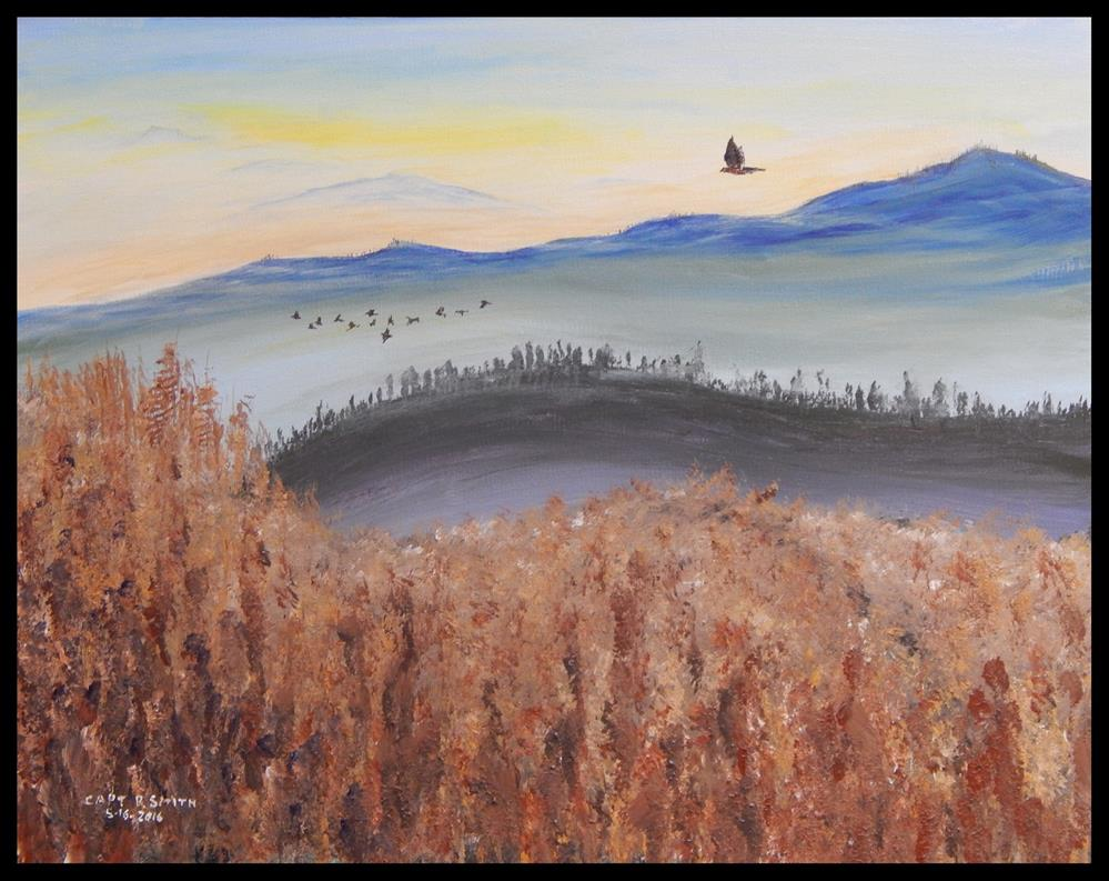 """The Last Sunrise - Panel 1 of 3"" original fine art by Captain B Smith"