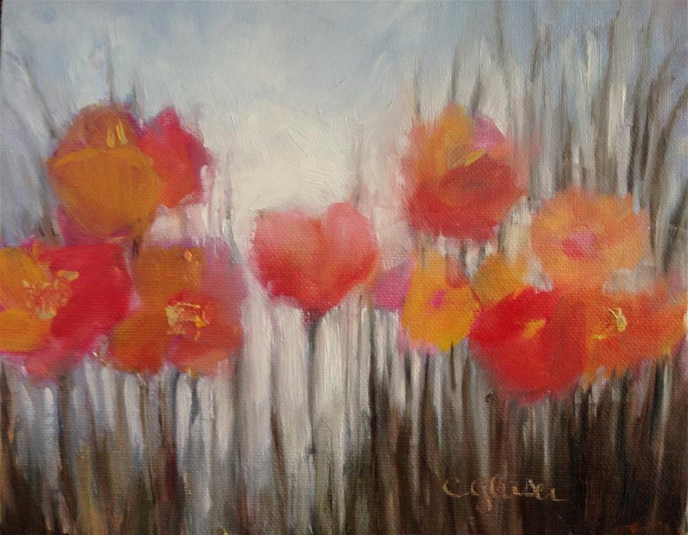 """The shape of flowers"" original fine art by christina glaser"