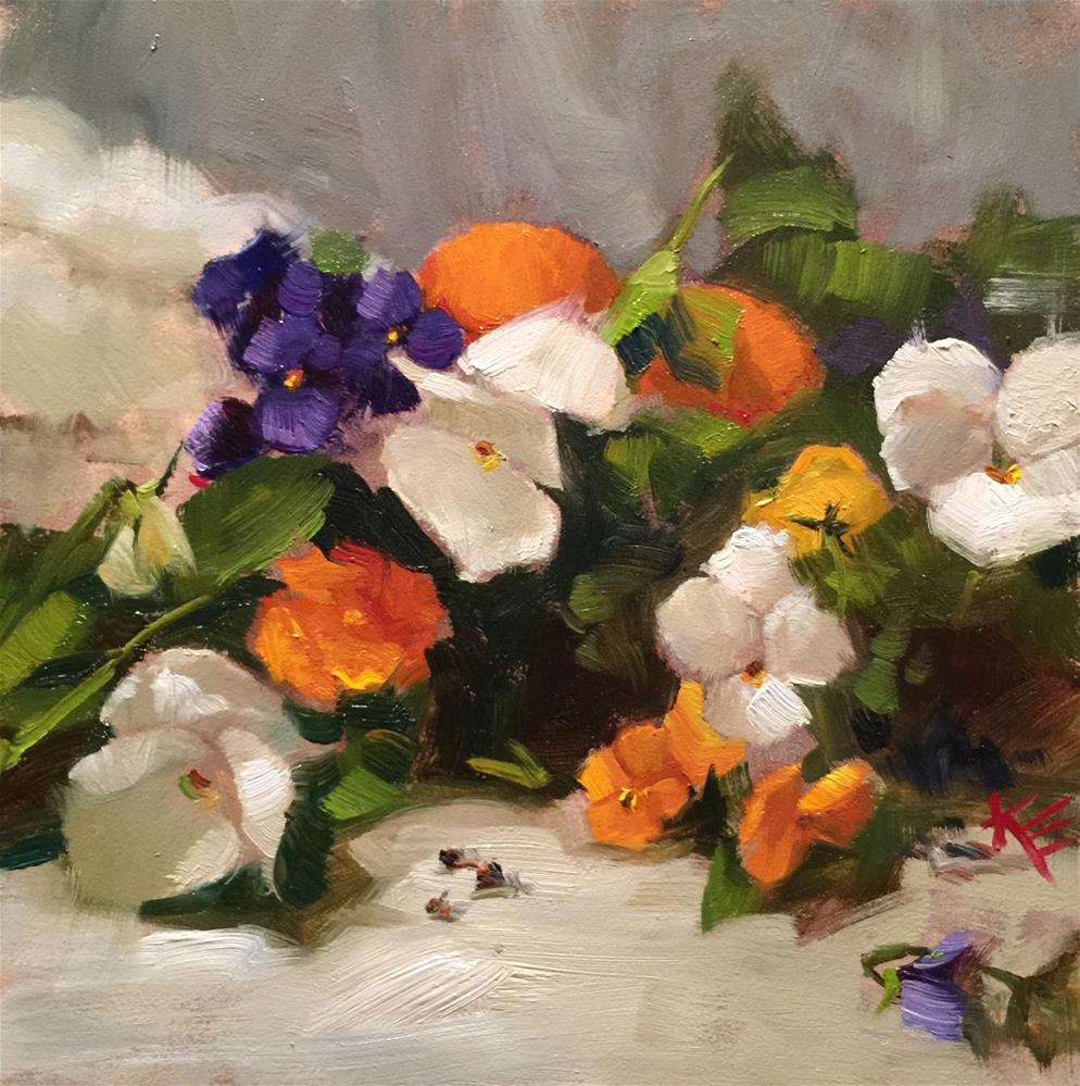"""Pansy Parade"" original fine art by Krista Eaton"
