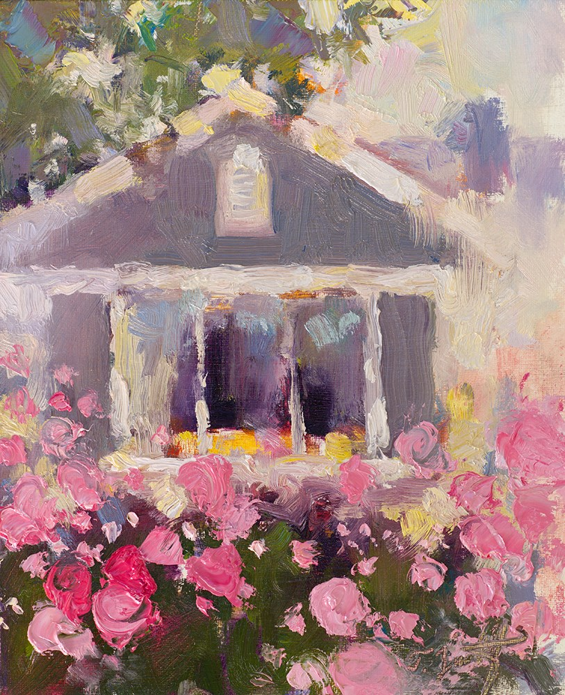 """One Peony Place"" original fine art by Todd Zuithof"
