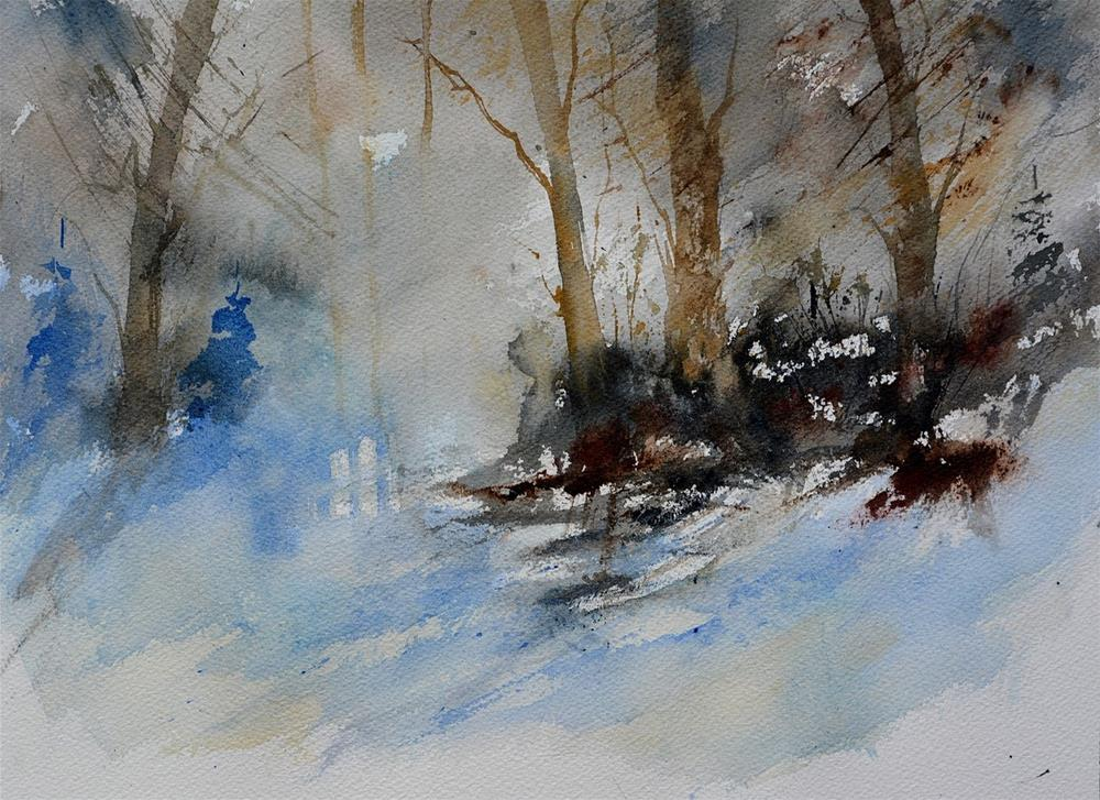 """watercolor 519030"" original fine art by Pol Ledent"