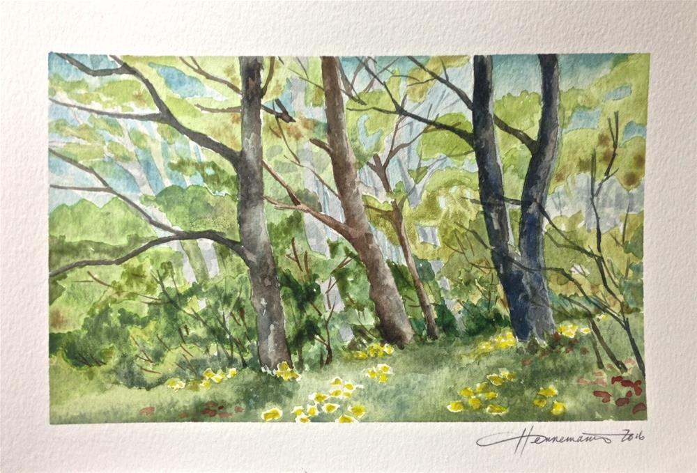 """Side of the Woods"" original fine art by Eileen Hennemann"