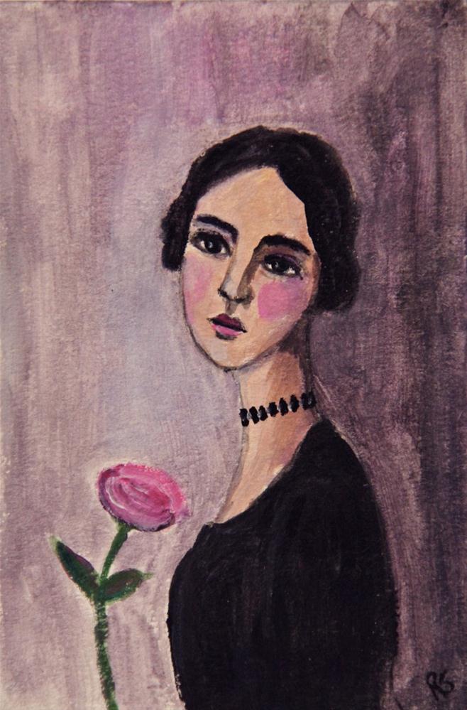 """Charlotte"" original fine art by Roberta Schmidt"