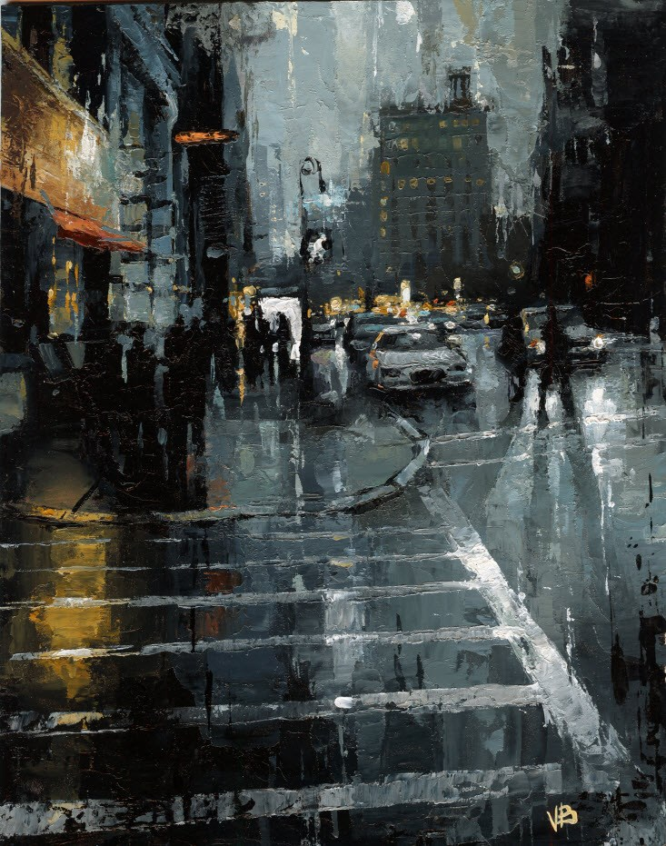"""Houston Street NYC"" original fine art by Victor Bauer"