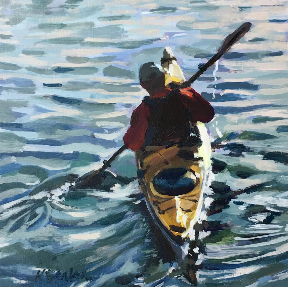 """The Kayaker"" original fine art by Kaethe Bealer"