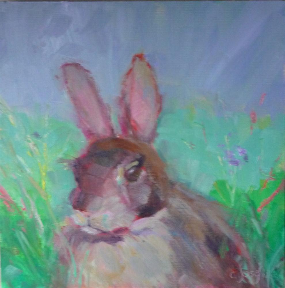 """Bunny2"" original fine art by Carol Josefiak"