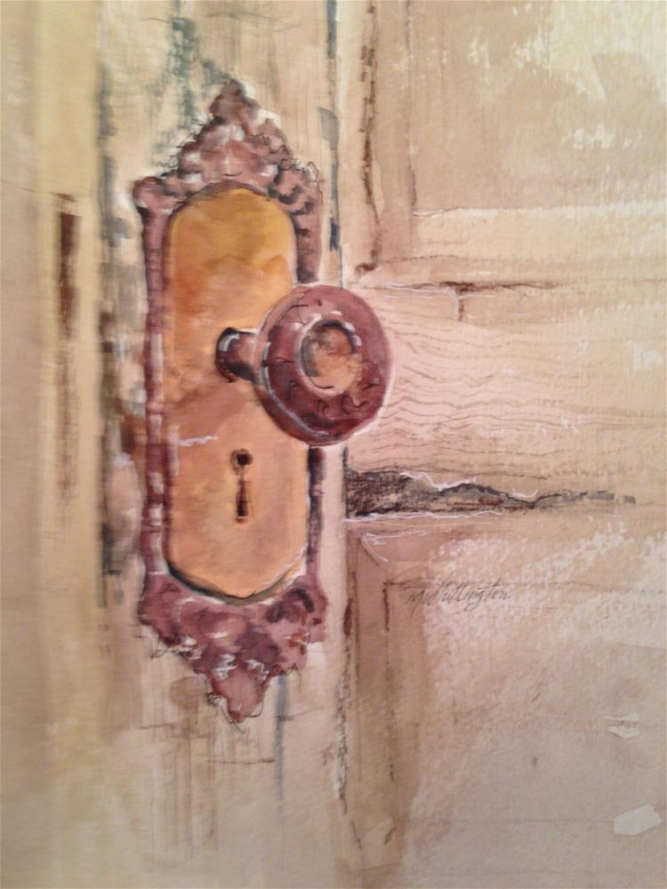 """Old Door Knob"" original fine art by Margie Whittington"