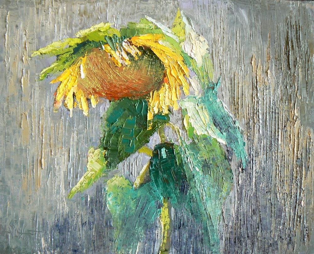 """Floral, Still Life, Sunflower, Daily Painting, Oil"" original fine art by Carol Schiff"
