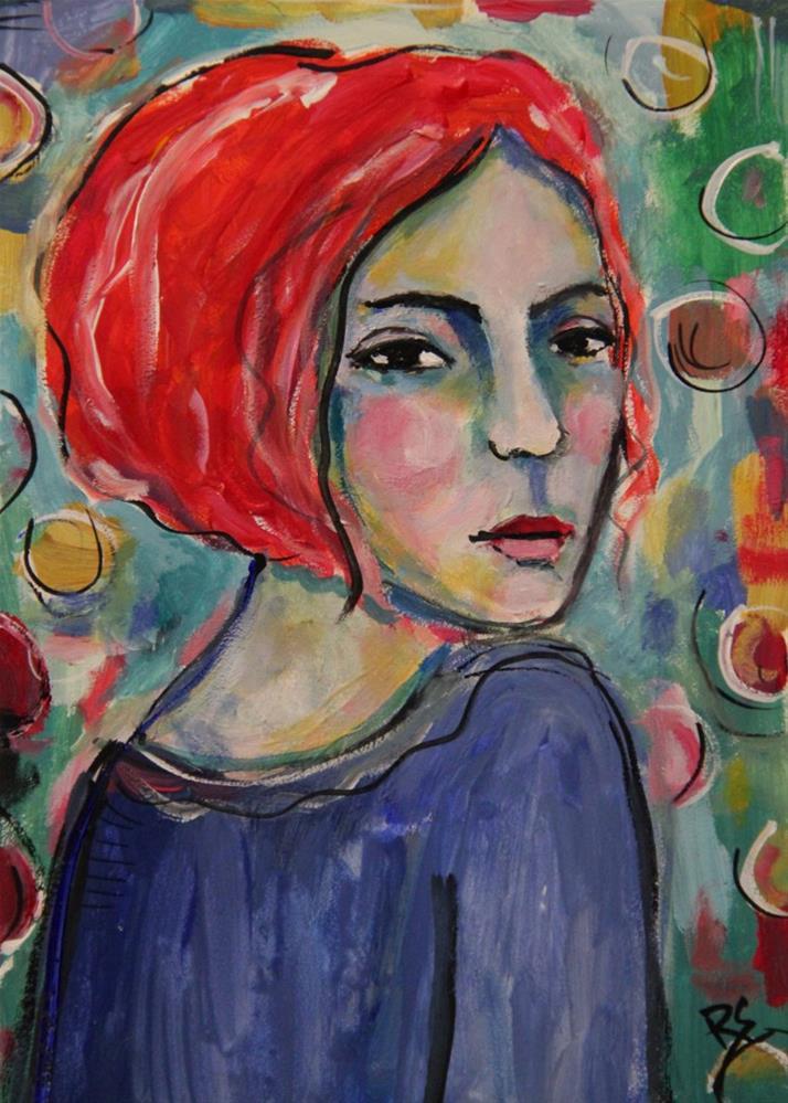 """Minette"" original fine art by Roberta Schmidt"