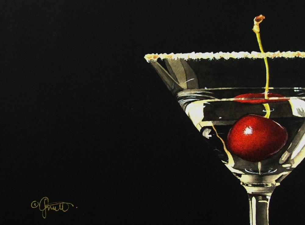 """Cherrytini"" original fine art by Jacqueline Gnott, whs"