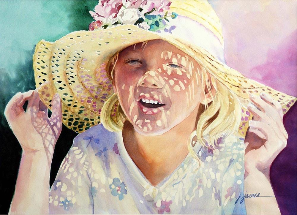 """Grandma's Hat"" original fine art by Jini James"