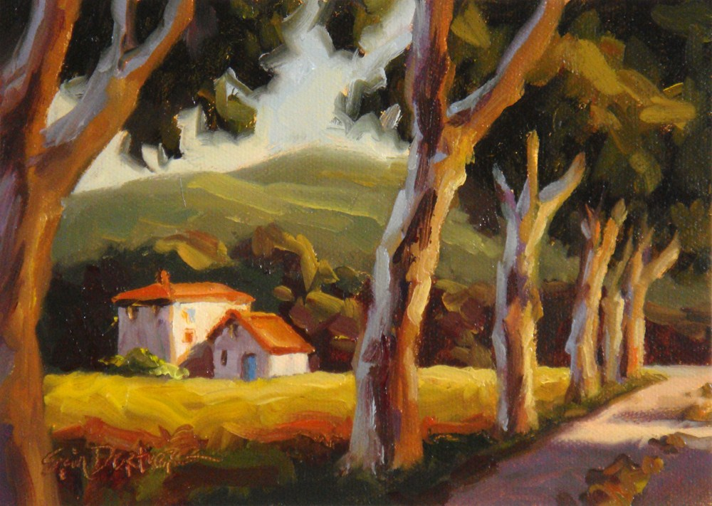 """Provence Backroad"" original fine art by Erin Dertner"