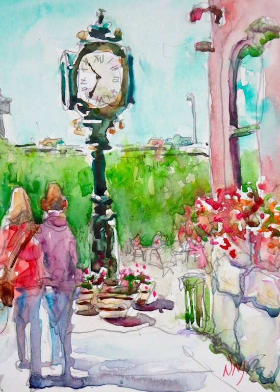 """it's about time"" original fine art by Nora MacPhail"