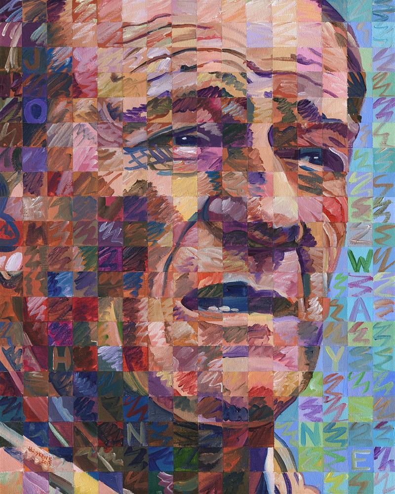 """John Wayne"" original fine art by Randal Huiskens"