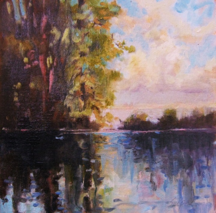 """Deep Water, Number 2"" original fine art by Connie Snipes"