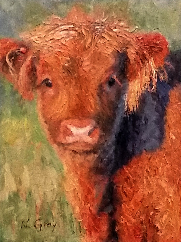 """Saddie in the Evening Light"" original fine art by Naomi Gray"