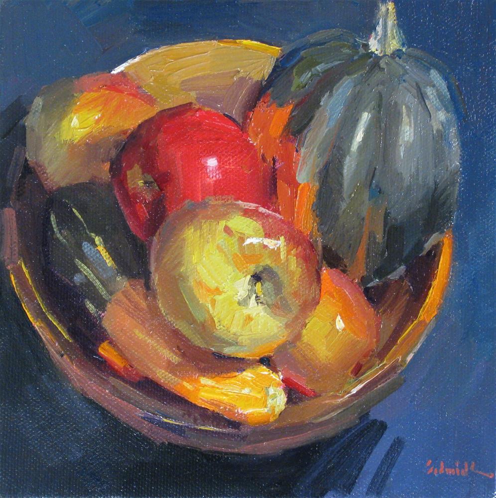 """Fall Fruit Bowl"" original fine art by Sarah Sedwick"