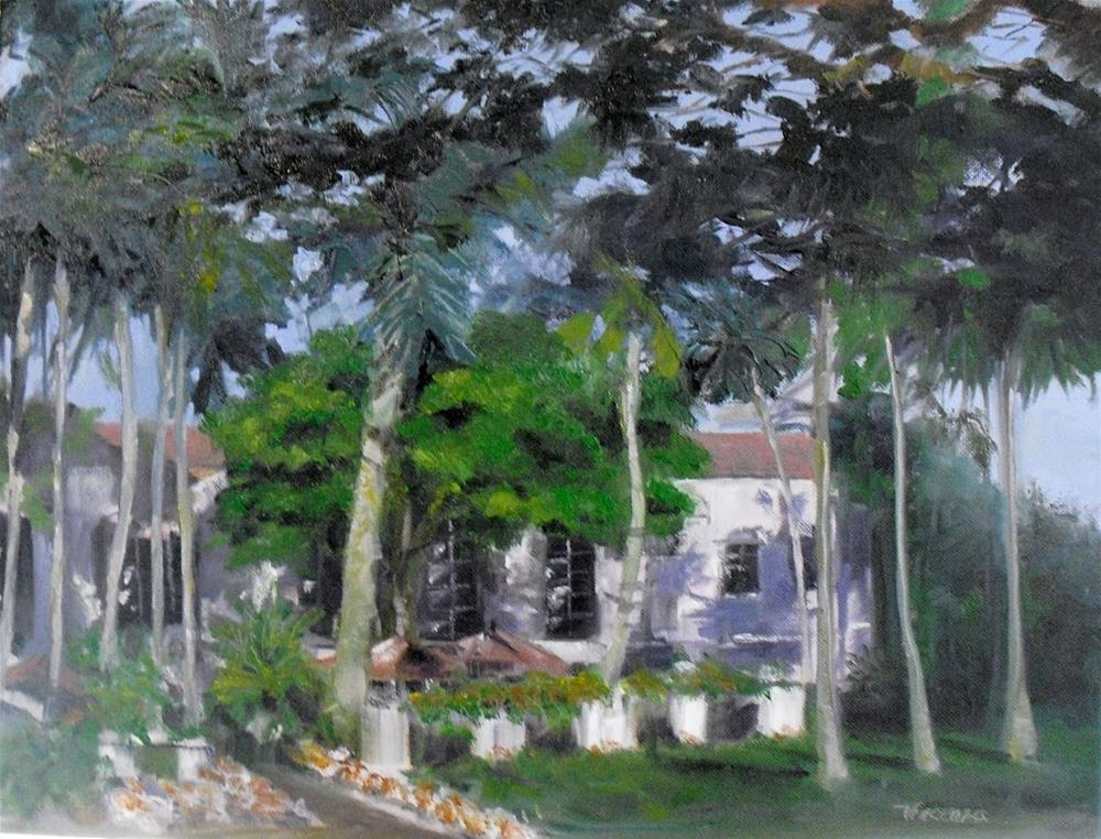Zsa Zsa Future Home~ 14x18~ oil on canvas original fine art by Vincenza Harrity